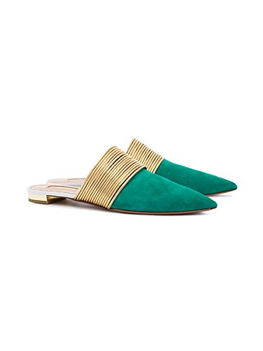 Femme Mules Chaussures flip Chaussures femmes Plage on Flops Slippers slip Vert Plates Edefs Mules q56pWdnp