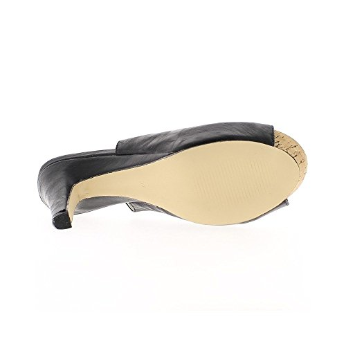 Sandales femme noires talon de 10 cm