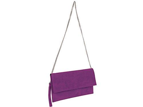 scarlet bijoux - Cartera de mano de Ante para mujer one size Púrpura - morado