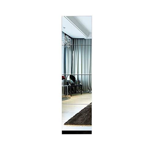 JN Wall-Mounted Mirror, Modern Wavy DIY Wall-Mounted Mirror Removable Household Bathroom Living -