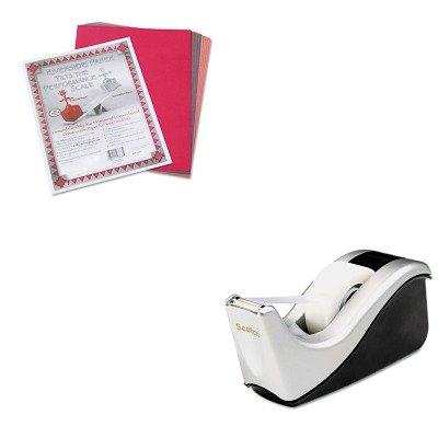 KITMMMC60STPAC103637 - Value Kit - Scotch Value Desktop Tape Dispenser (MMMC60ST) and Pacon Riverside Construction Paper (PAC103637)