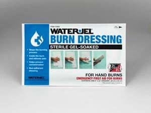 Water-Jel(R) Technologies 8'' X 20'' Foil Pack Sterile Gel-Soaked Burn Dressing With Barrier Sheet For Hand Burns Pack of 5