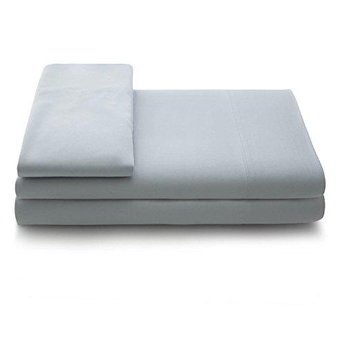 LINENSPA Super Soft Rayon from Bamboo Bed Sheet Set - Deep Pocket Fit - Grey - Split Queen