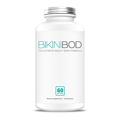 BikiniBOD Premium Vegan Diet Pills – All Natural Thermogenic Fat Burner | Weight Loss Supplement, Appetite Suppressant, Metabolism Booster & Clean Energy Booster – W/Added Biotin | 60 Servings For Sale