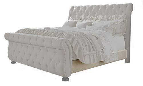 Ashley Furniture Signature Design – Willenburg Queen Upholstered Rails – Component Piece – Dark Brown