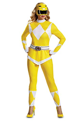 Disguise Women's Yellow Ranger Adult Costume, S ()