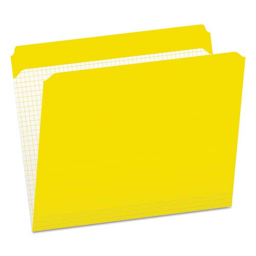 (Reinforced Top Tab File Folders, Straight Cut, Letter, Yellow, 100/Box, Sold as 100 Each)