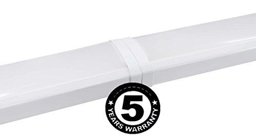 48W Linkable LED Wraparound Flushmount Light 4ft,led Shop Light,4000Lumens 5000K, ETL and Energy Star Certified,LED Wrap Light,LED Linear Indoor Lights,LED Puff Light,LED Ceiling Light,50K1pk by OOOLED (Image #8)