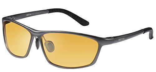 Bertha 2016 New Fashion Driving Sunglasses for Men Unbreakable-aluminum Frame 3230 Yellow Night Vision Lenses