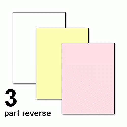 8.5 x 11 Nekoosa Universal Carbonless Paper, 3 Part Reverse (Bright White/Canary/Pink), 1670 Sets, 5010 Sheets, 10 Reams by PSD (Image #1)