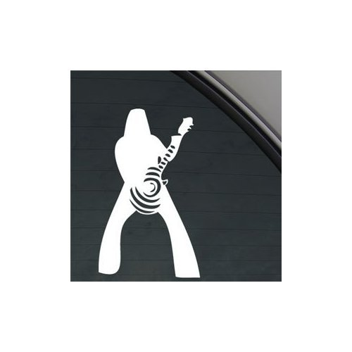 Guitar Bullseye (ZAKK BULLSEYE BLACK SABBATH GUITAR WHITE COLOR DIE CUT WINDOW ADHESIVE VINYL HELMET DECOR VINYL ART CAR AUTO WALL ART STICKER DECAL)