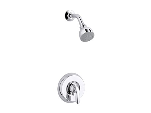 4 Coralais Shower - KOHLER TS15611-4E-CP Coralais(R) Rite-Temp(R) shower valve trim with lever handle and 2.0 gpm showerhead
