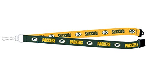 Pro Specialties Group NFL Green Bay Packers Two-Tone Lanyard, 18-inches, Green