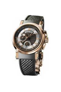 Breguet Marine Black Dial Rubber Mens Watch (Breguet Marine)