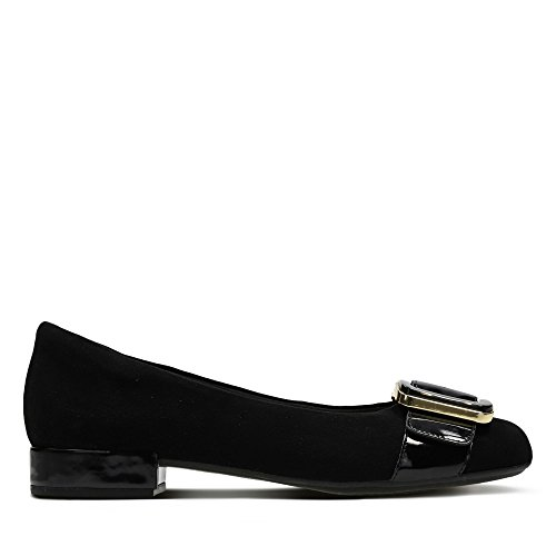 Black in Suede Clarks Faye Rosabella Shoes 0x0q6X