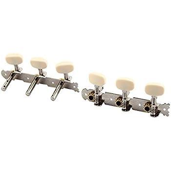 Máquina eDealMax música acústica Jefes perillas guitarra de cuerdas llaves de adaptación Peg Sintonizadores 2 piezas