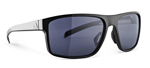 adidas Mens Whipstart a423 6050 Rectangular Sunglasses, Black Shiny, 61 mm (Adidas Sunglasses Sports)