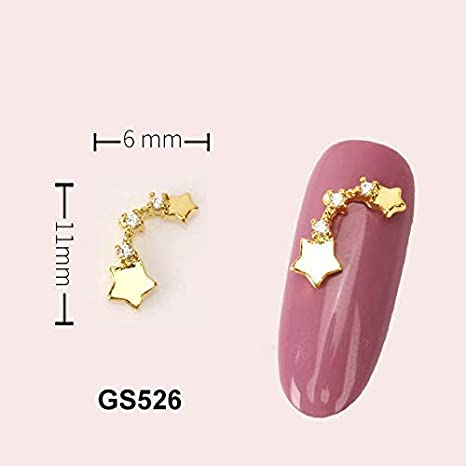 Alloy Nail Charms, Nail Art Rhinestones, 5Pcs Alloy ... - Amazon.com