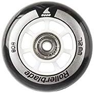 Rollerblade Wheelkit 72mm 80A, SG5 Bearings, 8 Pack