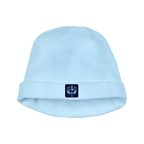 Royal Lion Baby Hat Lighthouse Crest Anchor Dolphins - Sky Blue