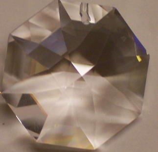 Eight Light Swarovski Strass Crystal (Swarovski Strass Crystal Octagon With Laser Logo Etched 28mm 1 hole # 8015-28)