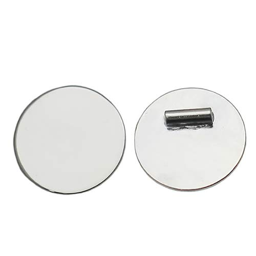 925 Sterling Silver 12mm Stamping Blanks Round Tag 2pcs