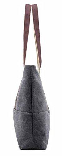 ccalbp180635 Borse Moda Di Donna Acquirente Voguezone009 Costellato Grigio Casuale Tela tw8CqXC