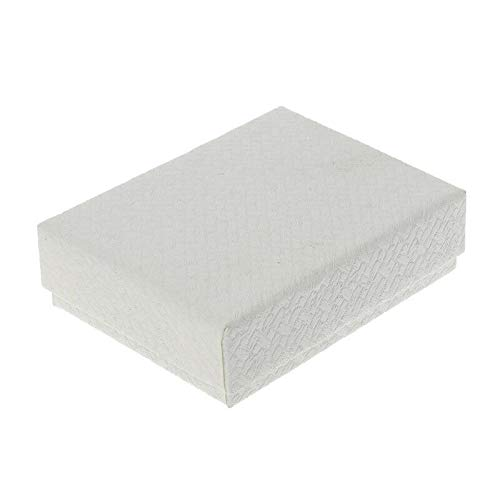 Kraft Paper Square Gift Boxes Jewelry Packaging for Earrings Necklaces Bracelets (Color - White) ()