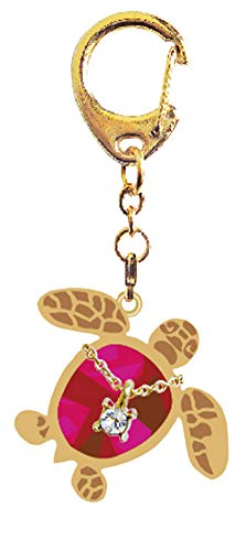 (Love Hawaii - Ruby Red Honu Turtle Keychain)