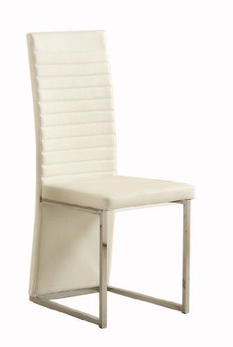 Homelegance 2447WS Side Chair Upholstered, White, Set of 4 Homelegance Upholstered Chair