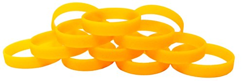 TheAwristocrat 1 Dozen Multi-Pack Orange Glow-in-The-Dark Wristbands Bracelets Silicone Rubber - Select from a Variety of Colors (Youth (7