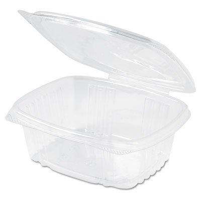 (GenPak AD12 Clear Rectangular Hinged Deli Container with Flat Lid, 12-Ounce, 200 per)