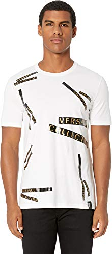 Versace Collection Staggered Logo T-Shirt White XL (US ()
