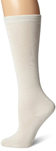 Terramar Liners Mid-Calf Sock Liner Sock With A Helicase Sock Ring Size: M - Natural