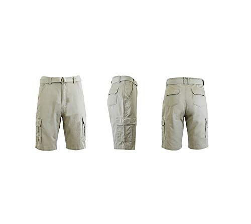 Blue Rock Mens Belted Cargo Shorts (Royal (Sand), 36)