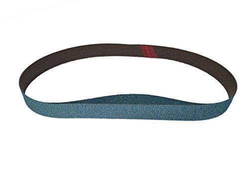 Sungold Abrasives 67840 Blue Zirconia Cloth 120 Grit Sanding Belts 8 Pack 1X42