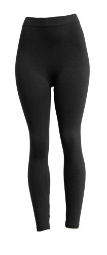 Fashionista Polyester Spandex Footless Legging in 14 Colors Leggings Color: Black