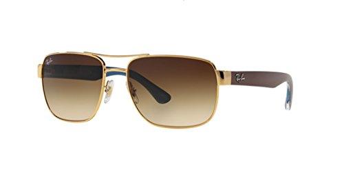 Ray-Ban Mens 0RB3530 Square Polarized Sunglasses