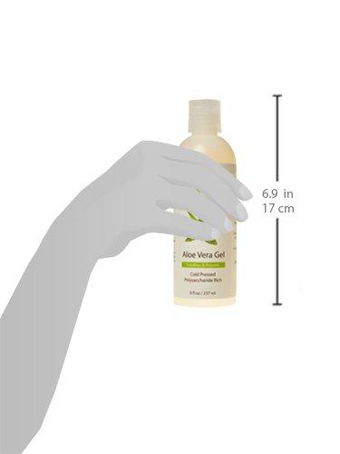 Aloe Vera Gel aus Bio, kaltgepresstes Aloe - 100% natürliche für Gesicht, Körper und Haar - 237 ml
