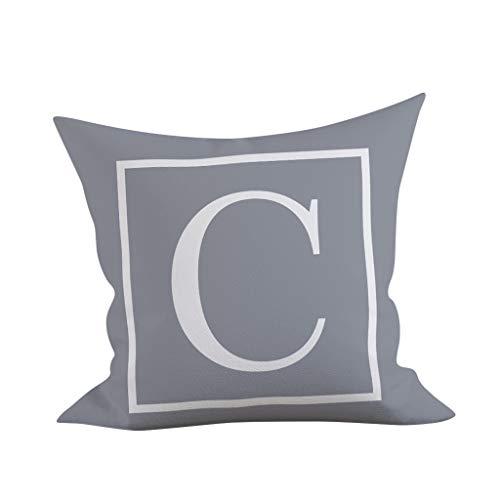 UROSA Englisch Alphabet Pillowcases Kinder Zimmer Dekoration Brief Kissen 45X45cm