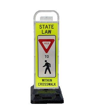 Pedestrian Crosswalk Sign - VP-6536-YIELD-F&B VP-6500 Series Yield in-Street Pedestrian Crossing Systems U-Frame, 32lb U-Base