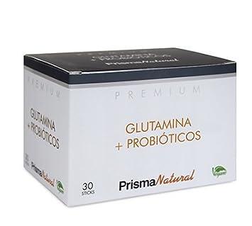 Prisma Natural Premium Glutamina + Probióticos 30 sticks x 4,37 gr: Amazon.es: Salud y cuidado personal