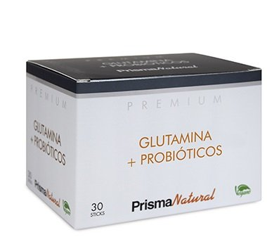 Prisma Natural Premium Glutamina + Probióticos 30 sticks x 4 ...