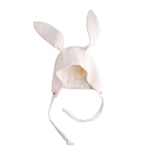 (EllieFunDay Bunny Bonnet Hat, Pink Peony, 6-12 M)