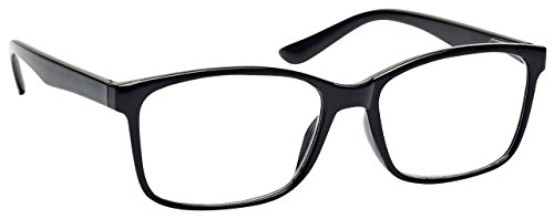 The Reading Glasses Company Black Readers Large Designer Style Mens R83-1 - Frame Men Glasses Large For