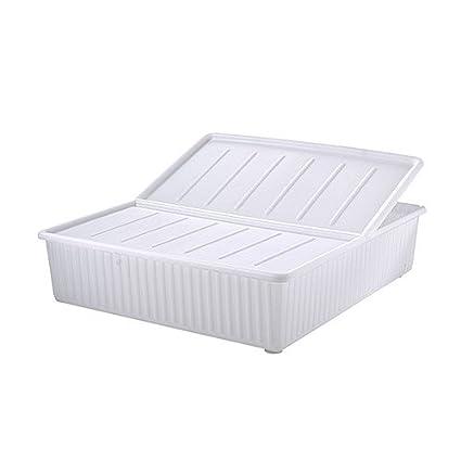 IKEA Dilling - caja de almacenamiento de cama, blanco - 77x70 cm