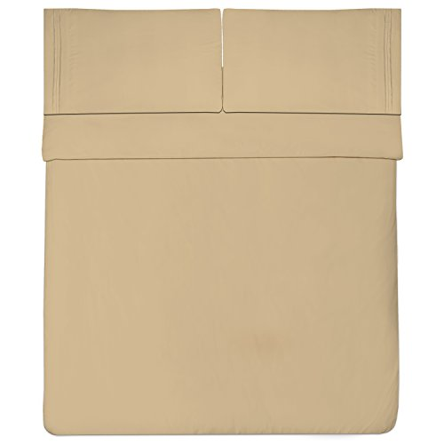 Sweet Home Collection 1800 Thread Count Bed Sheet Set Egyptian Quality Brushed Microfiber 4 Piece Deep Pocket, RV Short Queen, Camel by Sweet Home Collection (Image #2)