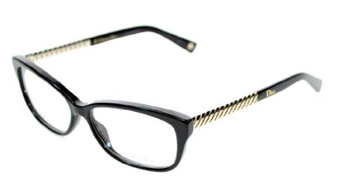 Christian Dior Eyeglasses 3258 RHP Black / Light Gold 54 mm