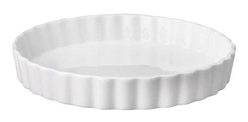 Fluted Round Tart Pan - HIC Harold Import Co. 98015 8-Inch Round Quiche Dish, Fine White Porcelain