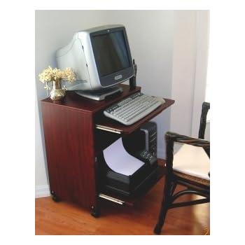 Amazon Com Narrow Computer Laptop Desk W Sliding Printer